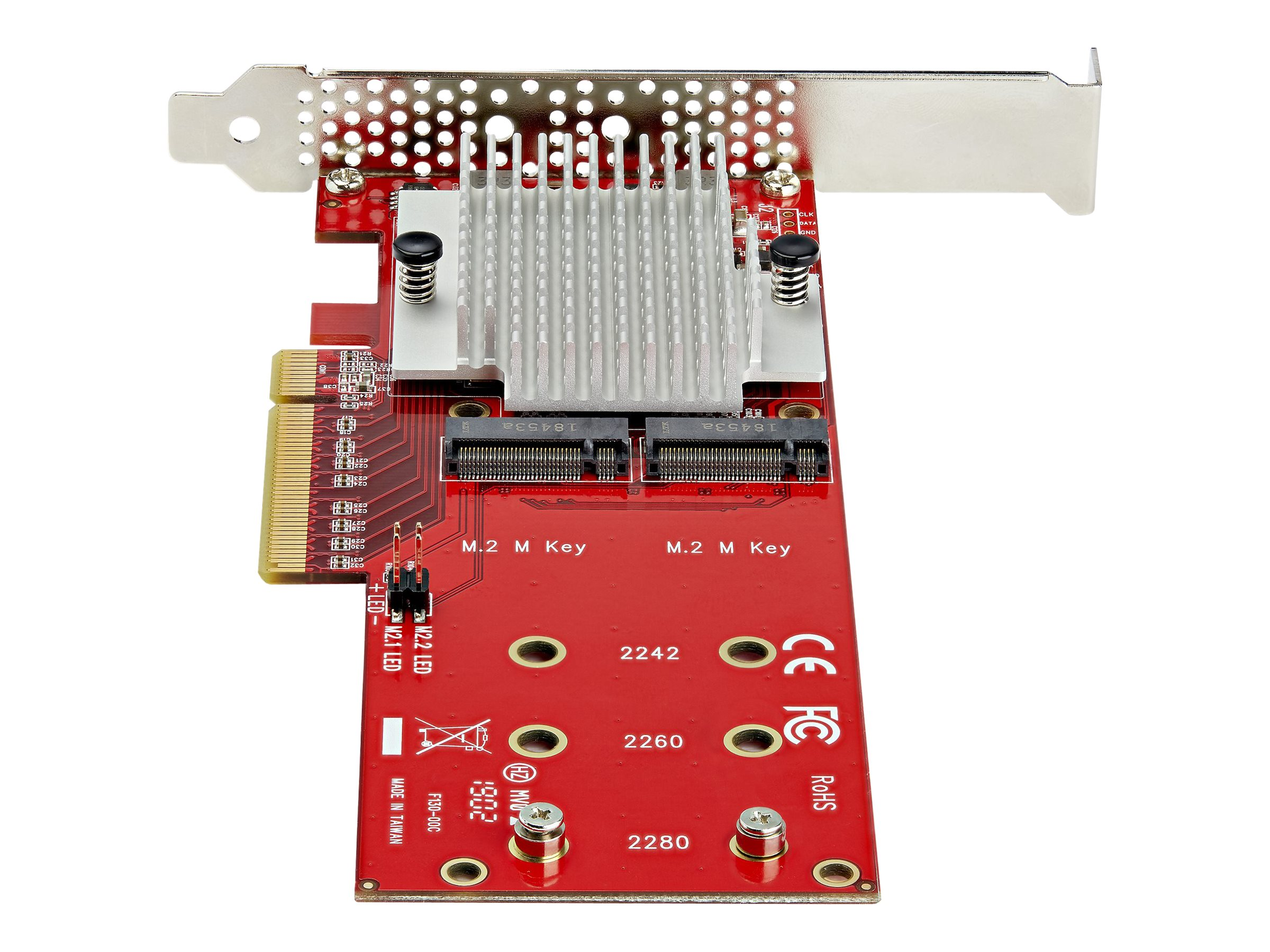 StarTech.com Dual M.2 PCIe SSD Adapter Card - x8 / x16 Dual NVMe or AHCI M.2 SSD to PCI Express 3.0 - M.2 NGFF PCIe (m-key) Compatible - Schnittstellenadapter - M.2 - Expansion Slot to M.2