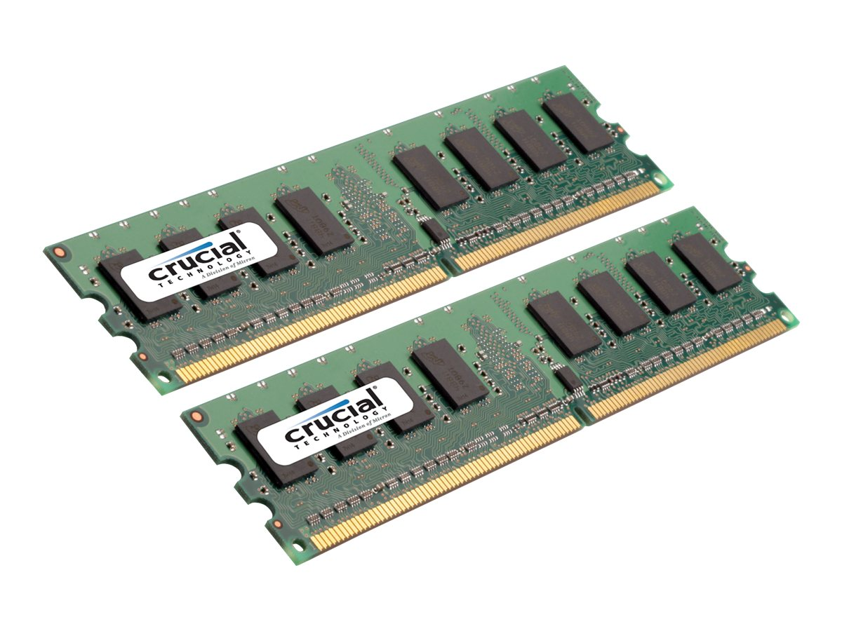 Crucial - DDR2 - 2 GB: 2 x 1 GB - DIMM 240-pin - unbuffered