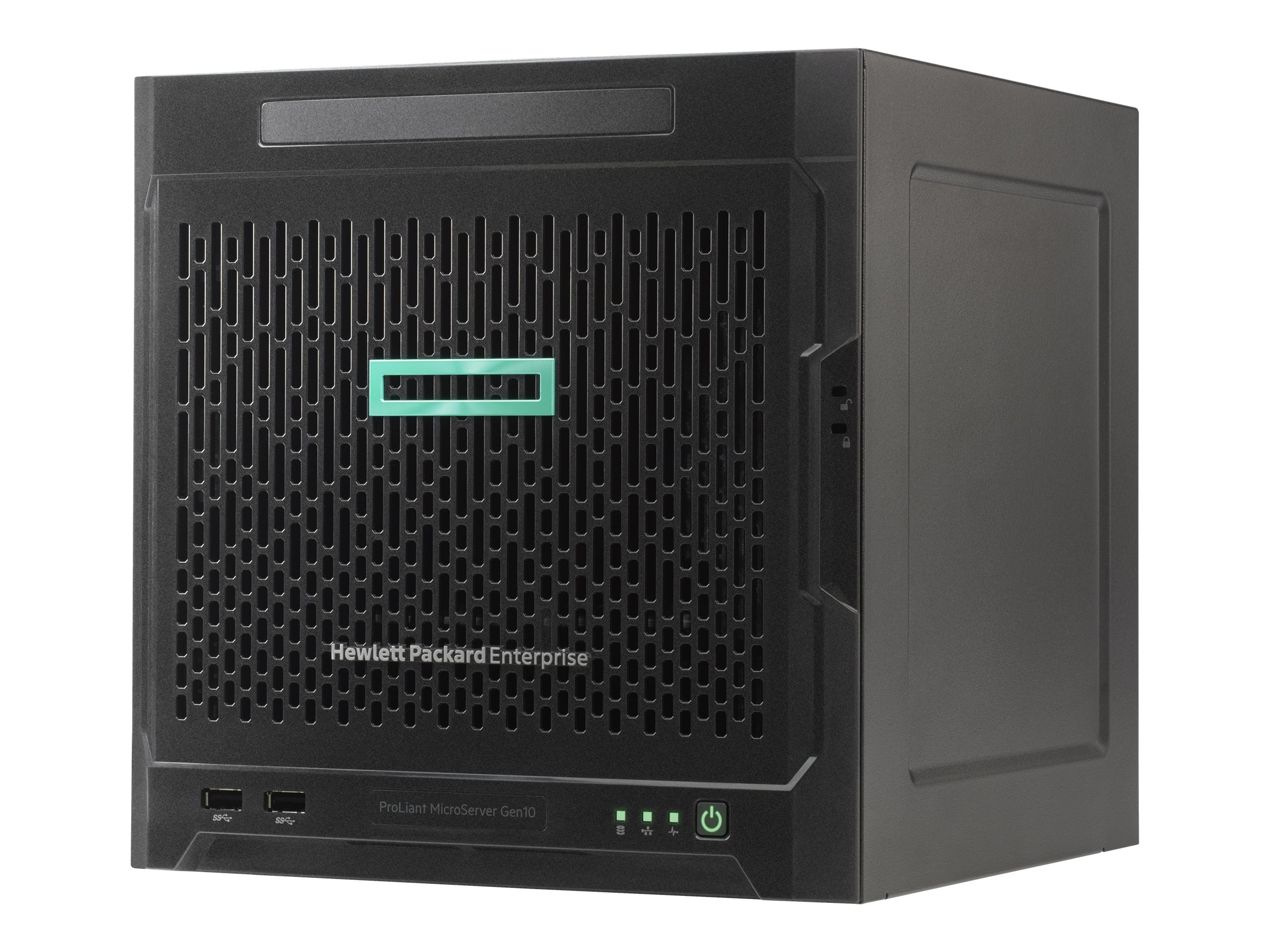 HPE ProLiant MicroServer Gen10 Entry - Server - Ultra-Micro-Tower - 1-Weg - 1 x Opteron X3216 / 1.6 GHz - RAM 8 GB
