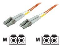 IC Intracom - Patch-Kabel - LC Multi-Mode (M) bis LC Multi-Mode (M) - 1 m - Glasfaser - 50/125 Mikrometer