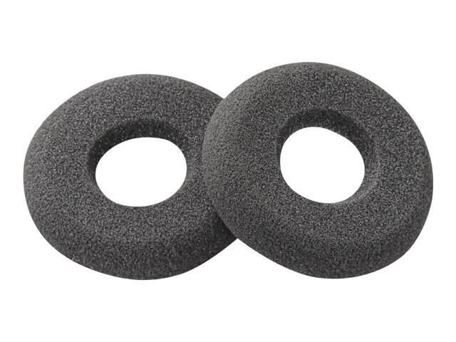Poly - Ear cushion for headset - black (pack of 2) - for SupraPlus H251, H261, HW251; SupraPlus SL H351, H361; SupraPlus Wideband HW251