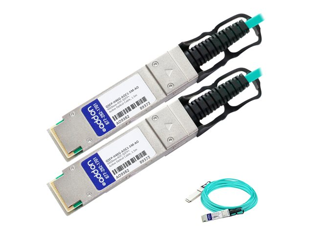 AddOn - 40GBase-AOC direct attach cable - TAA Compliant - QSFP+ to QSFP+