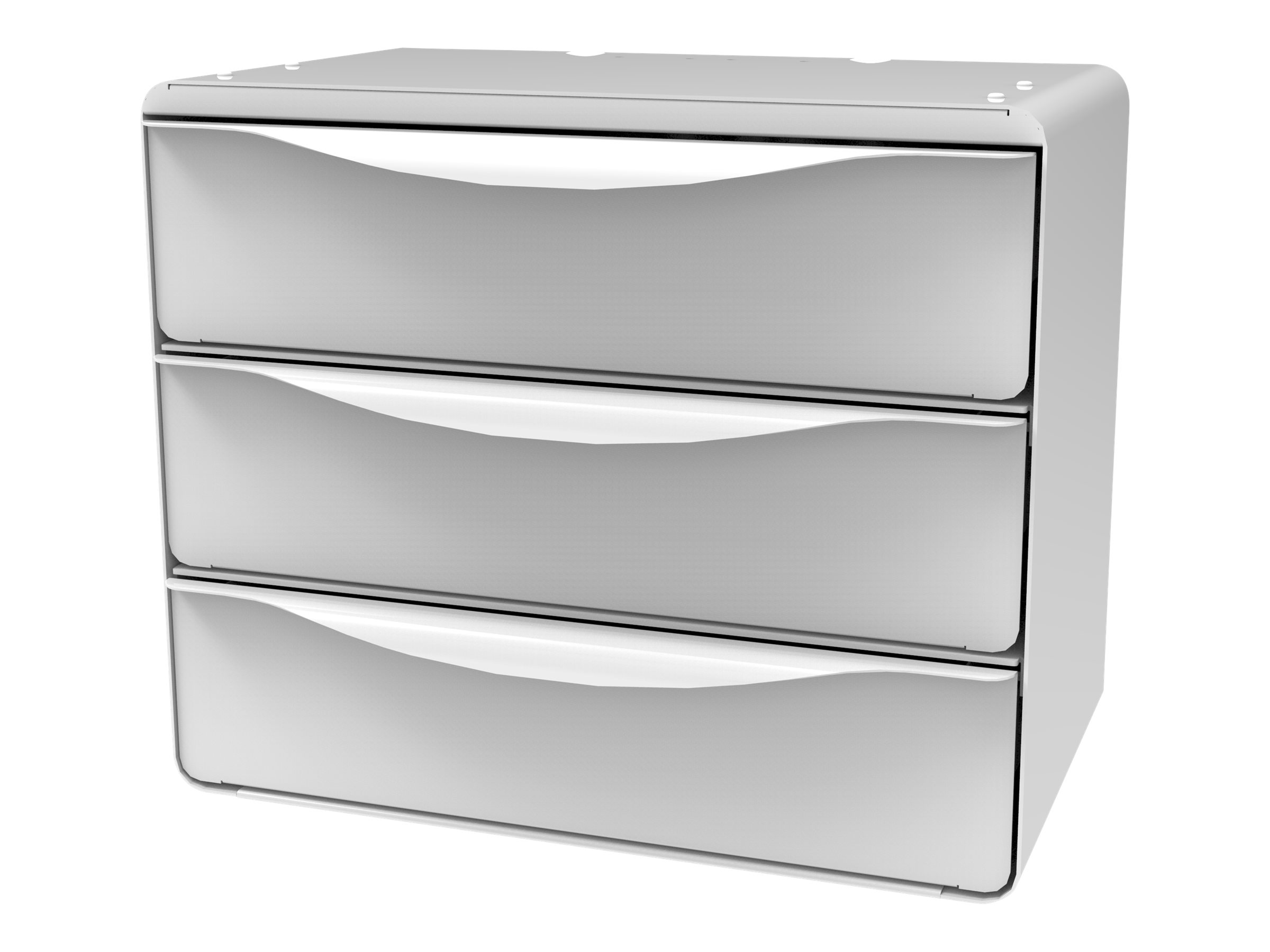 JACO Drawer System - Cabinet - Triple 3 Inch Drawer, Side Open, Touch Pad-Lock - mounting component