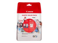 Canon PG 560XL/CL-561XL Photo Value Pack Sort Farve (cyan, magenta, gul) 100 x 150 mm 50ark