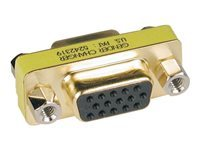 Tripp Lite Compact / Slimline Gold VGA Video Coupler Gender Changer HD15 F/F