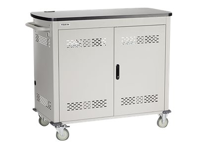 Black Box Double Frame with Large Slots and Hinged Door Cart for 36 tablets
