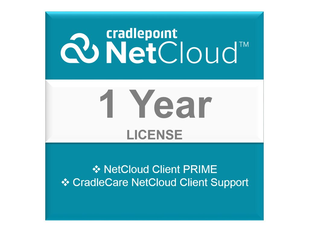 Cradlepoint NetCloud Engine Client Prime - subscription license (1 year) + 1 Year CradleCare - 1 license
