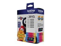 Brother LC-201CL 3-pack yellow, cyan, magenta original ink cartridge