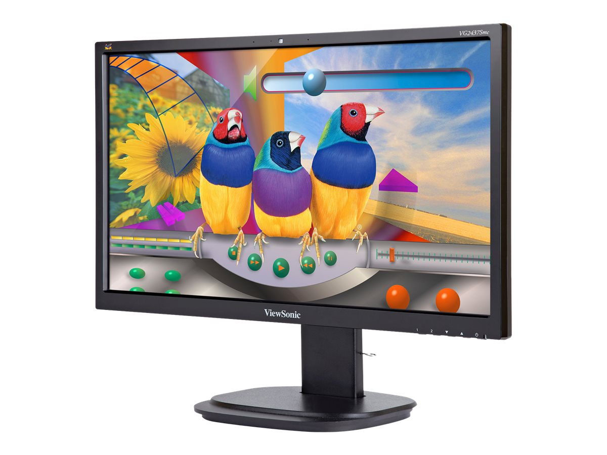 "ViewSonic VG2437SMC - Écran LED - 24"" (23.6"" visualisable) - 1920 x 1080 Full HD (1080p) - MVA - 250 cd/m² - 3000:1 - 5 ms - DVI, VGA, DisplayPort - haut-parleurs"