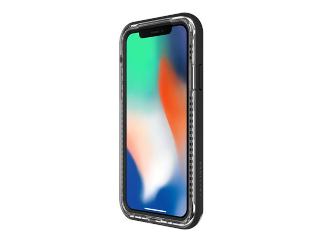 LifeProof NËXT Apple iPhone X - Coque de protection pour téléphone portable - polycarbonate - cristal noir - pour Apple iPhone X