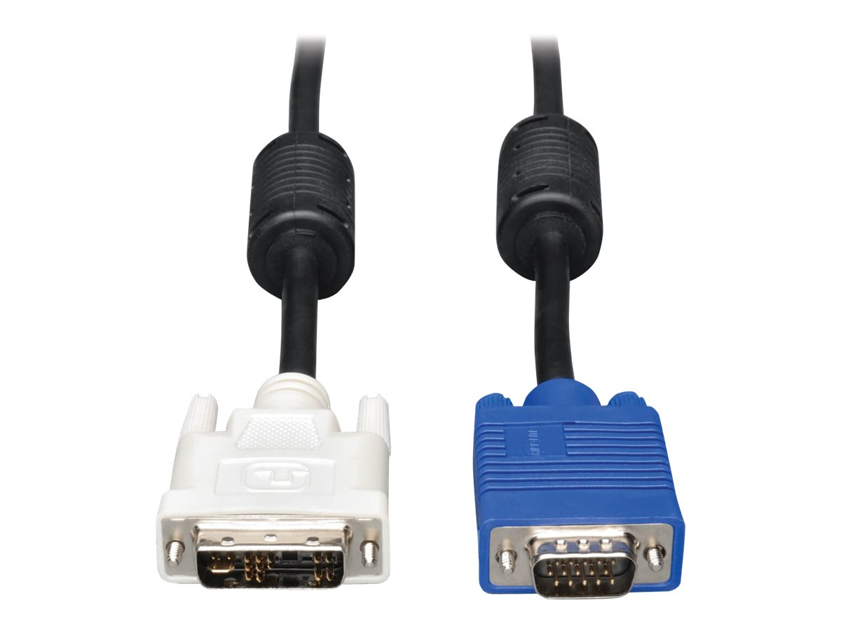 Tripp Lite 6ft DVI to VGA Monitor Cable Shielded with RGB High Resolution DVI-A to HD15 M/M 6' - display cable - 1.8 m
