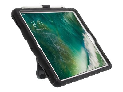 Gumdrop Hideaway Protective case for tablet rugged ABS polymer, dual silicone black