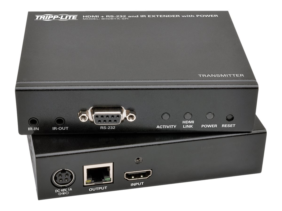 Tripp Lite HDBaseT HDMI Over Cat5e Cat6 Cat6a Extender Kit with Power, Serial and IR Control 4K x 2K 70m 230ft - video/…