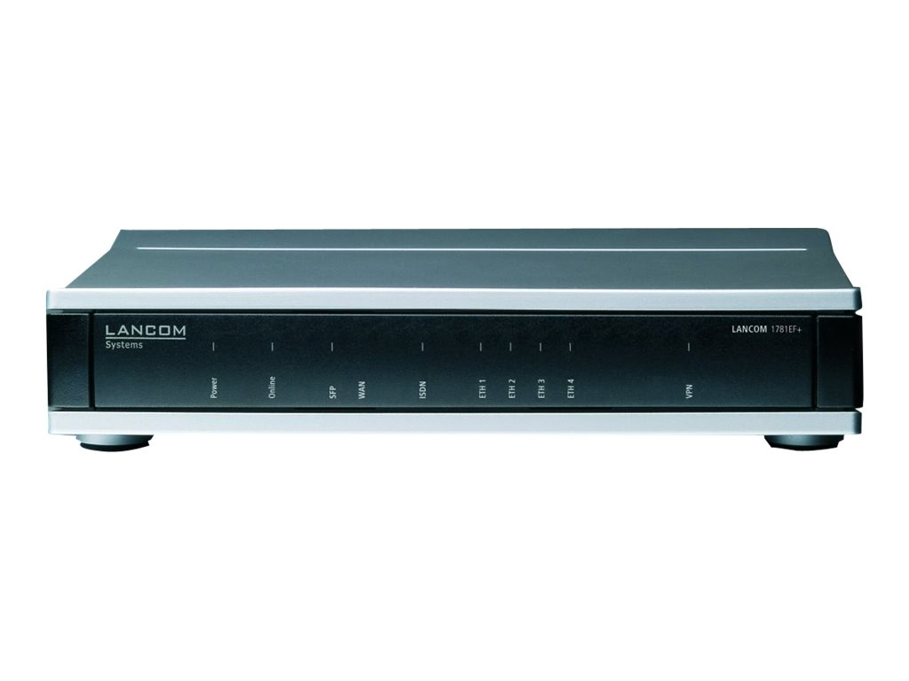 LANCOM 1781EF+ - Router - ISDN - 4-Port-Switch - GigE, HDLC, PPP - WAN-Ports: 2