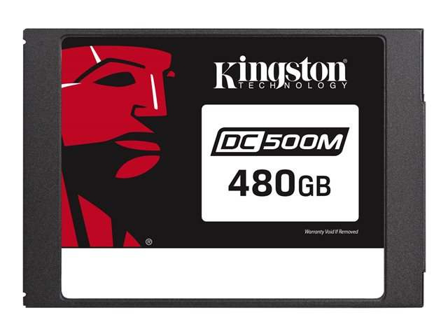"""Kingston Data Center DC500M - Disque SSD - chiffré - 480 Go - interne - 2.5"""" - SATA 6Gb/s - AES - Self-Encrypting Drive (SED)"""