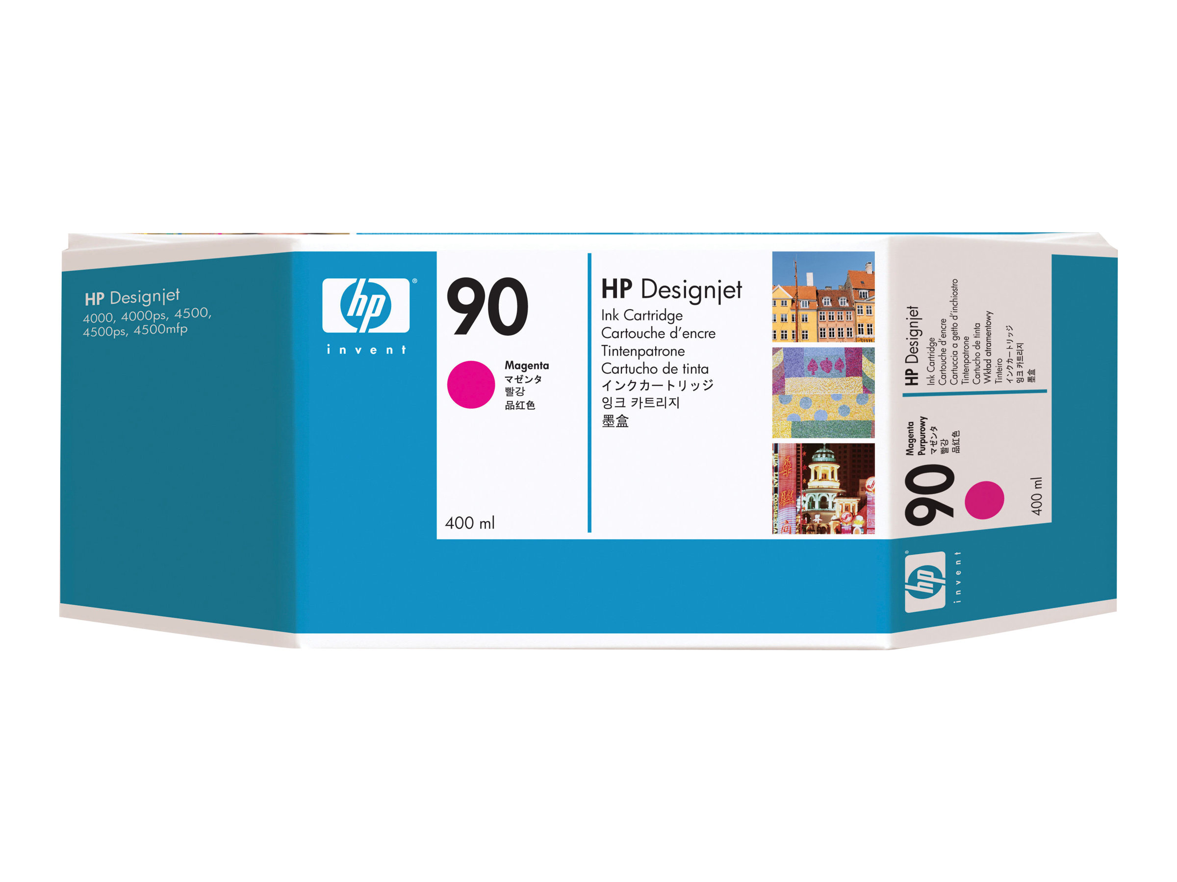 HP 90 - 3-pack - magenta - original - ink cartridge