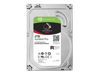 "Seagate IronWolf Pro ST2000NE0025 - Disque dur - 2 To - interne - 3.5"" - SATA 6Gb/s - 7200 tours/min - mémoire tampon : 128 Mo - avec Seagate Rescue Data Recovery"