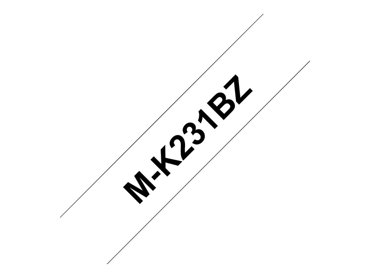 Brother M-K231BZ - label tape - 1 roll(s) - Roll (1.2 cm x 8 m)
