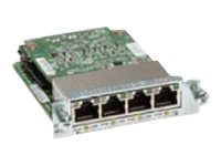 Cisco Gigabit EtherSwitch EHWIC - Switch - verwaltet - 4 x 10/100/1000 - Plugin-Modul