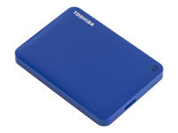 "Toshiba Canvio Connect II - Hard drive - 500 GB - external (portable) - 2.5"" - USB 3.0 - blue - with 10GB free Cloud Backup"