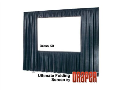 Draper Ultimate Folding Screen 16:10 Format Projection screen with legs rear