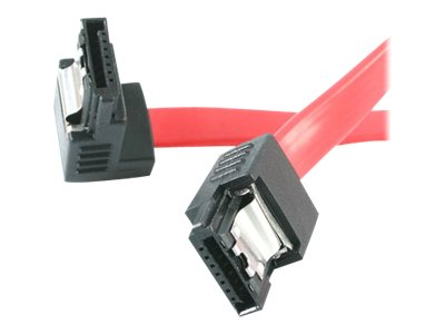 StarTech.com 18in Latching SATA to Right Angle SATA Serial ATA Cable - SATA cable - 46 cm