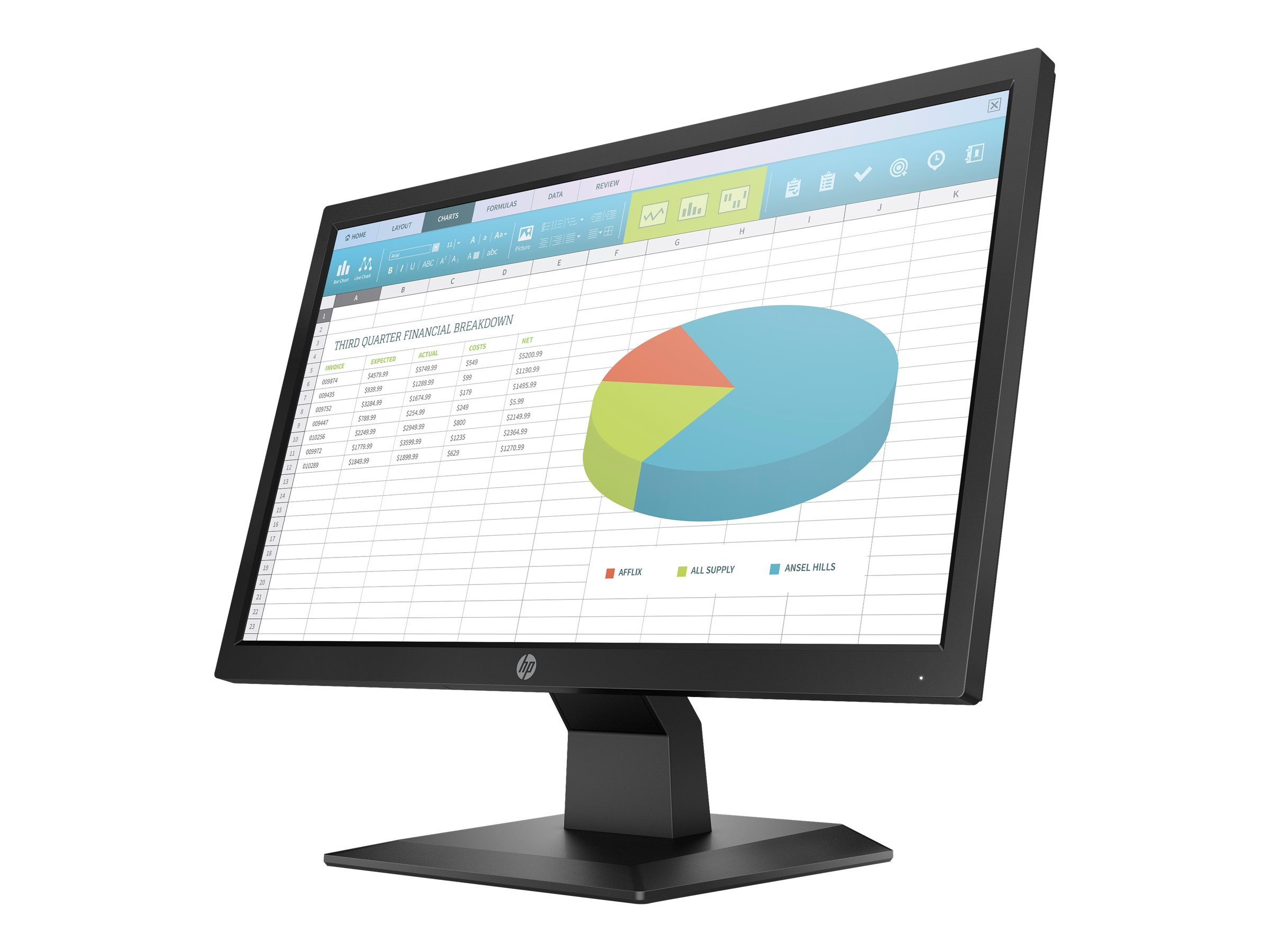 HP P204 - Head Only - LED monitor - 19.5""
