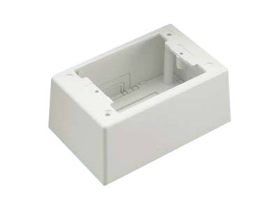 Panduit Pan-Way Single Gang Two-Piece Screw Together Deep Outlet Box - cable raceway junction box