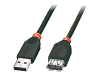 Lindy - USB extension cable - USB (M) to USB (F) - USB 2.0 - 5 m - molded - black