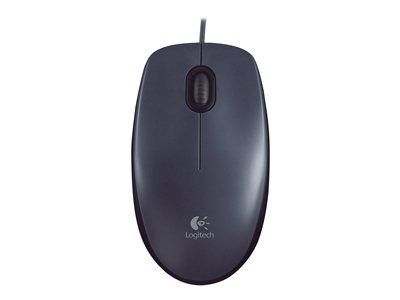 Logitech M100 Mouse right and left-handed optical 3 buttons wired USB black