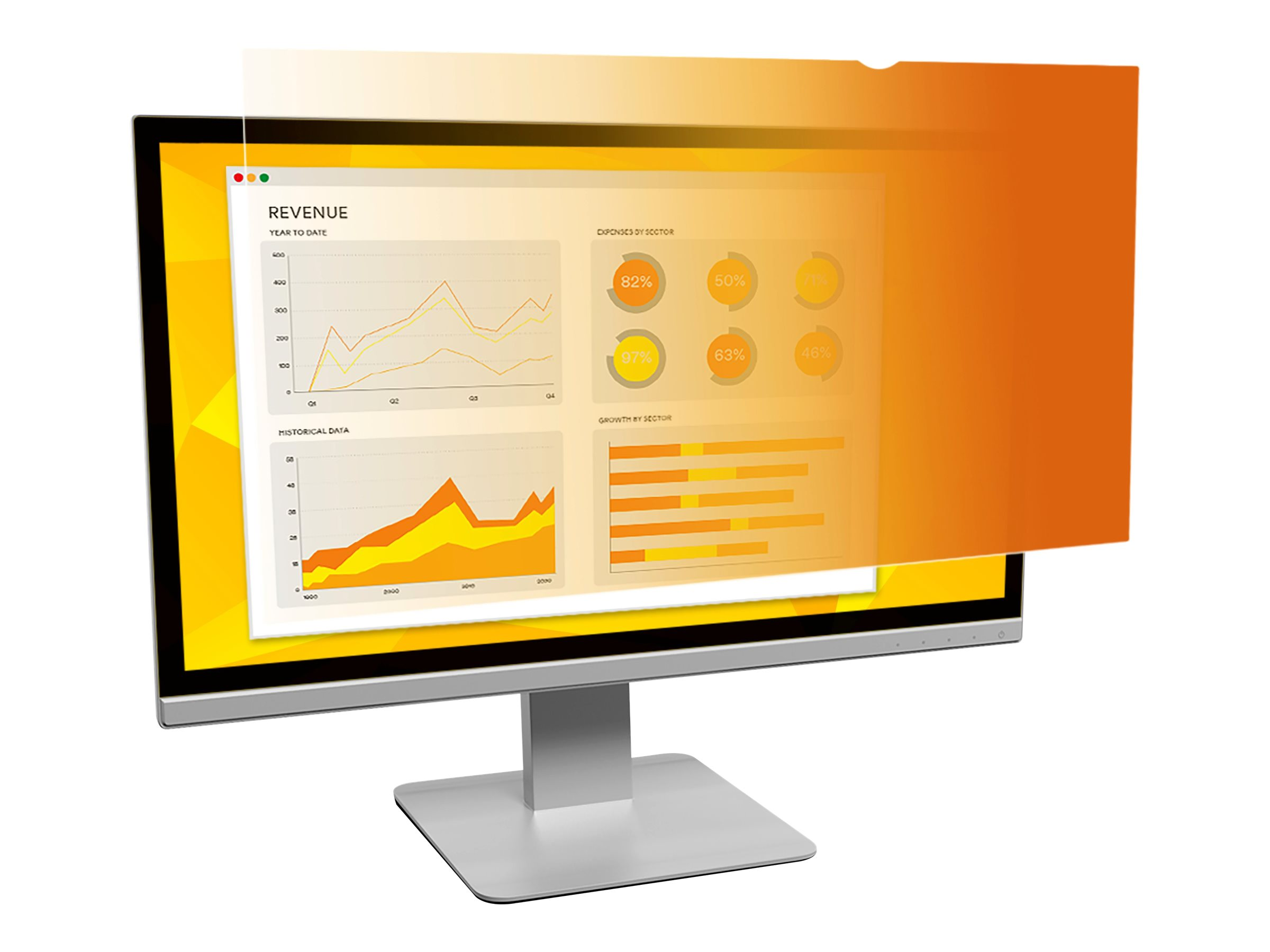 """3M Gold Privacy Filter for 24"""" Widescreen Monitor (16:10) - display privacy filter - 24"""" wide"""