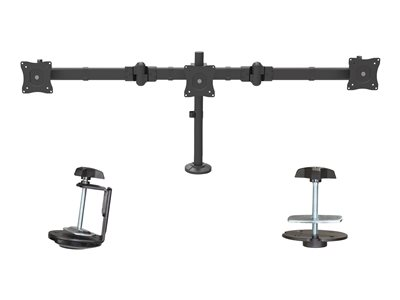 StarTech.com Desk Mount Triple Monitor Arm for 3 Monitors up to 24INCH Steel