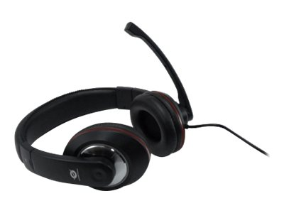 Conceptronic Lounge Collection CMUSICSTARR Professional Level Headset - Headset - Full-Size - Schwarz, Rot