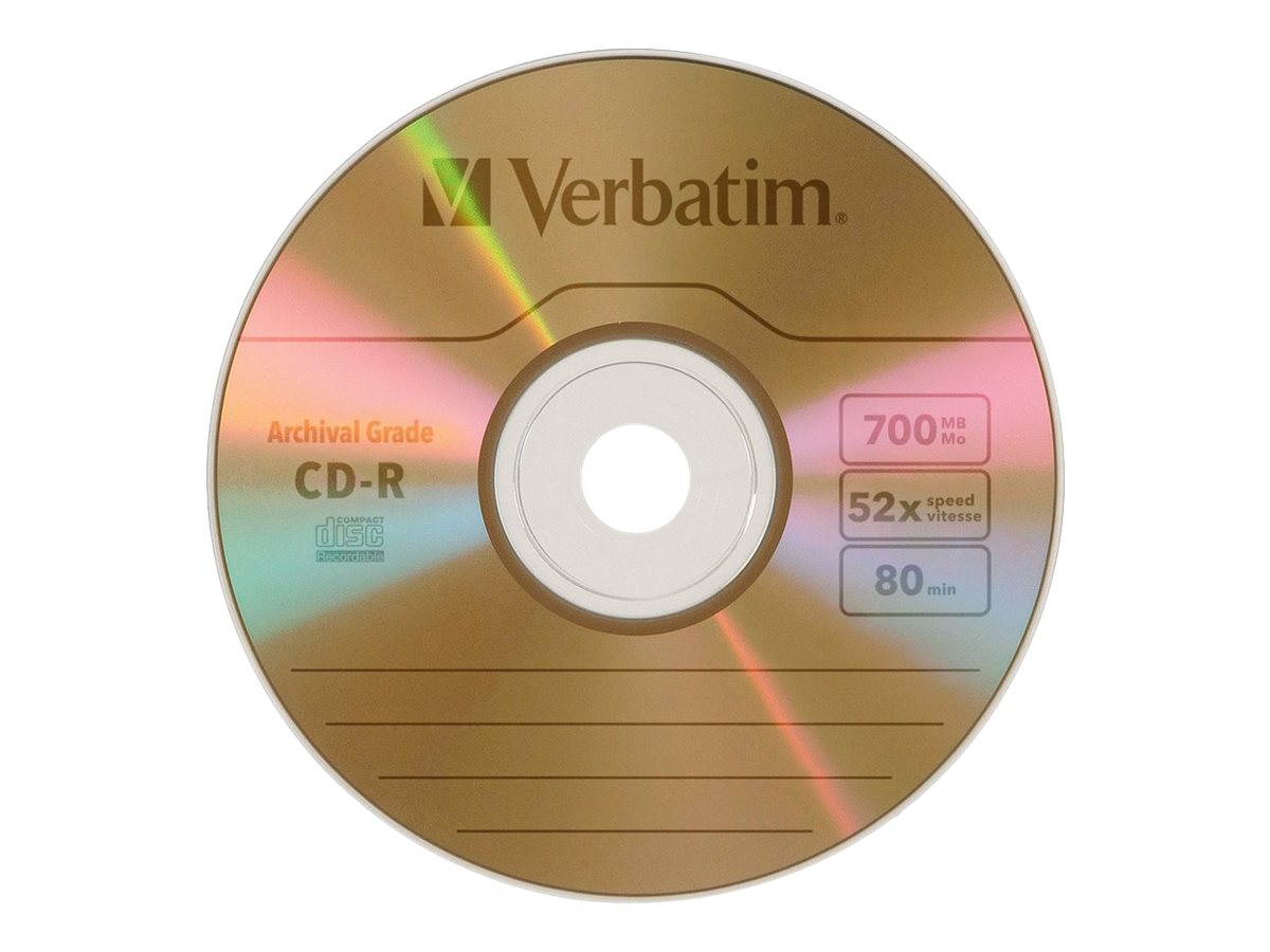 Verbatim UltraLife Gold Archival Grade - CD-R x 5 - 700 MB - storage media