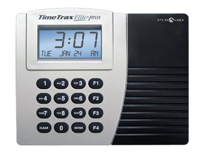 Pyramid TimeTrax Elite Prox Time clock system proximity cards 50 employees Ethernet
