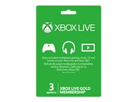 Microsoft Xbox Live Gold Membership - Subscription card (3 months)