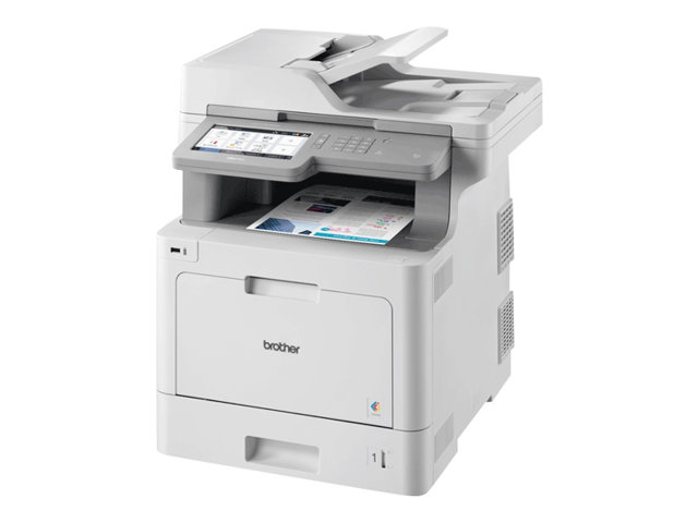 Brother MFC-L9570CDW - Imprimante multifonctions - couleur - laser - 215.9 x 355.6 mm (original) - A4/Legal (support) - jusqu'à 31 ppm (copie) - jusqu'à 31 ppm (impression) - 300 feuilles - 33.6 Kbits/s - USB 2.0, Gigabit LAN, Wi-Fi(n), hôte USB, NFC