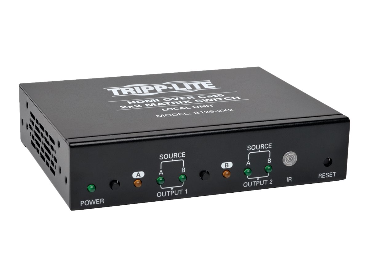 Tripp Lite HDMI over Cat5 Cat6 2x2 Matrix Video Extender Switch HDMI RJ45 F/F TAA - video/audio extender - HDMI