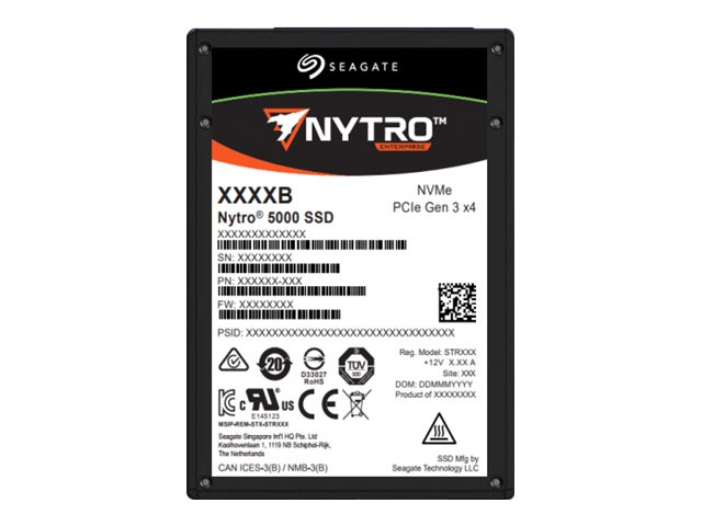 Seagate Nytro 5000 NVMe SSD XP1600HE10002 - solid state drive - 1.6 TB - PCI Express 3.0 x4 (NVMe)