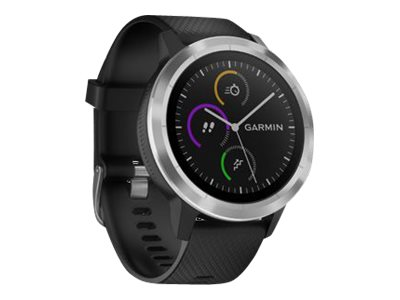 Garmin vívoactive 3 Stainless steel smart watch with band black Bluetooth, ANT+/ANT