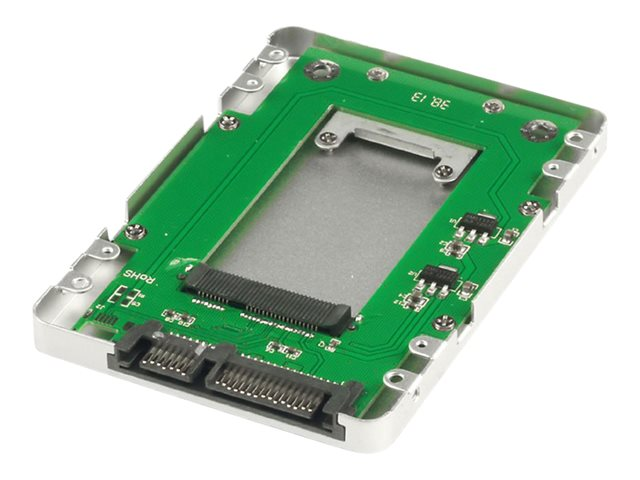 """mSATA SSD to 2.5"""" SATA Drive Enclosure (Supplied with Mounting Screws and Screwdriver) (Silver)"""