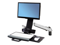 Ergotron StyleView Sit-Stand Combo Arm - Mounting kit (wrist rest, track mount bracket kit, height adjust bracket, keyboard tray with left/right ...