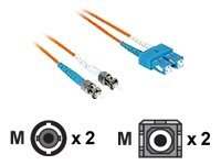 C2G 20m SC-ST 50/125 OM2 Duplex Multimode Fiber Optic Cable - Low Smoke Zero Halogen LSZH - Orange - patch cable - 20 m…