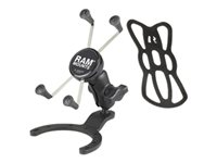 RAM Large Gas Tank Mount with B Size Ball Short Arm and X-Grip Holder f