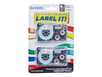Casio XR-9WE2S Black on white Roll (0.35 in) 2 pcs. tape cartridge