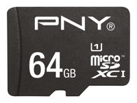 PNY Performance 2015 - Carte mémoire flash (adaptateur microSDXC vers SD inclus(e)) - 64 Go - UHS Class 1 / Class10 - microSDXC UHS-I