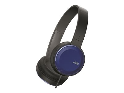 JVC HA-S190M Headphones with mic full size wired 3.5 mm jack blue