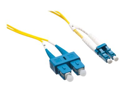 Axiom LC-SC Singlemode Duplex OS2 9/125 Fiber Optic Cable - 0.5m - Yellow - network cable - 0.5 m - yellow