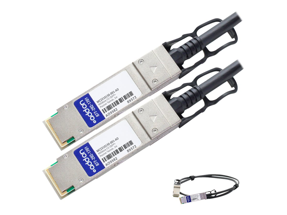AddOn 40GBase direct attach cable - TAA Compliant - 1 m