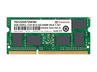 Transcend DDR3L 8 GB SO-DIMM 204-pin 1333 MHz / PC3L-10600 CL9 1.35 V unbuffered